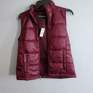 Express Puffy vest brand new withs tags